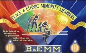 Black and Ethnic Minority Members Fire Brigades Union flag