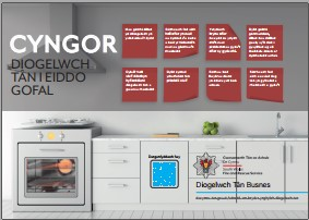 Picture of cooker with safety tips for care premises